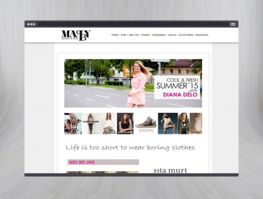 Marby Fashion&Style Homepage & Onlinestore