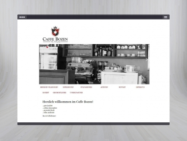 Caffe Bozen Homepage & Grafikdesign